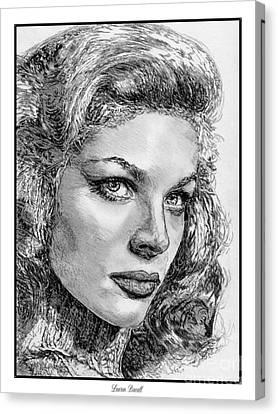 Lauren Bacall Canvas Print by J McCombie