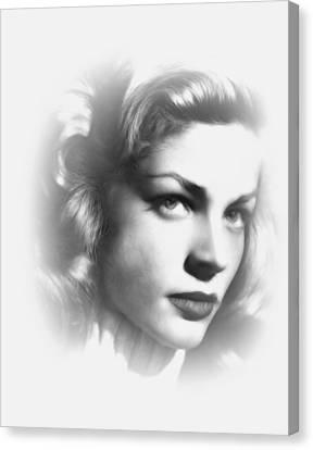 Lauren Bacall Canvas Print