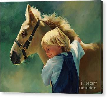 Lauren's Pony Canvas Print by Laurie Hein