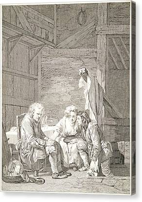 Laurent Cars French, 1699-1771 After Jean-baptiste Greuze Canvas Print by Litz Collection