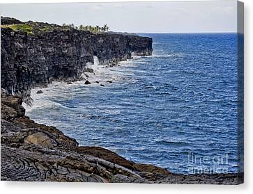 Canvas Print featuring the photograph Lava Cliffs by Gina Savage