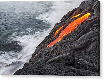 Lava Canvas Print by Henryk Welle