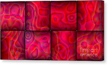 Canvas Print featuring the digital art Lava Lamp Abstract 1  By Saribelle Rodriguez by Saribelle Rodriguez