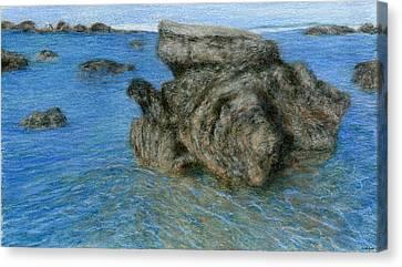 Lava Rock Canvas Print by Kenneth Grzesik