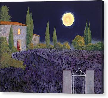 Moon Canvas Print - Lavanda Di Notte by Guido Borelli