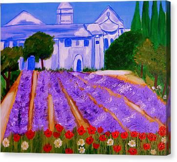 Lavande A St Paul De Mausole  St Remy De Provence Canvas Print