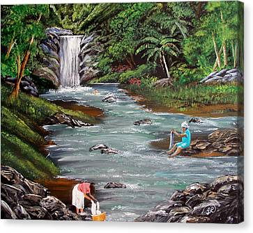 Lavando Ropa Canvas Print