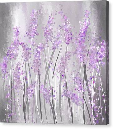 Lavender Art Canvas Print by Lourry Legarde