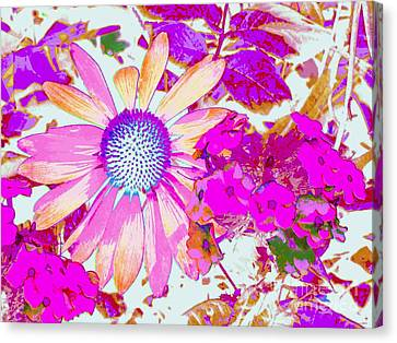 Canvas Print featuring the photograph Lavender Echinacea by Annie Zeno