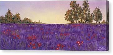 Lavender Evening Canvas Print by Anastasiya Malakhova