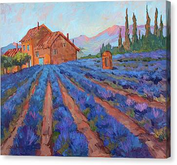 Lavender Field Provence Canvas Print by Diane McClary