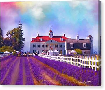 Lavender Fields Canvas Print by Kari Nanstad