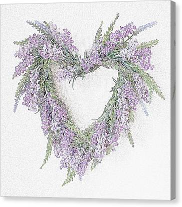 Lavender Heart Canvas Print by Sharon Lisa Clarke