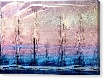 Lavender Interference Canvas Print