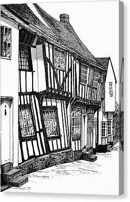 Lavenham Timber Canvas Print by Shirley Miller