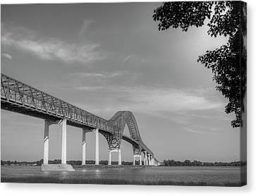 Riviere Canvas Print - Laviolette Bridge  Trois-rivieres by David Chapman