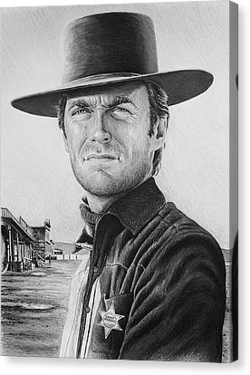 Law And Order Bw Version Canvas Print by Andrew Read
