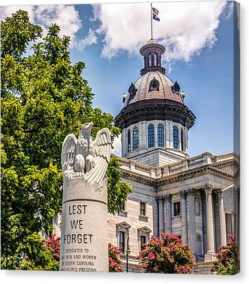 Canvas Print featuring the photograph Law Enforcement Memorial by Rob Sellers