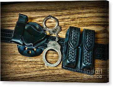 Law Enforcement Canvas Print - Law Enforcement - Police -duty Belt by Paul Ward