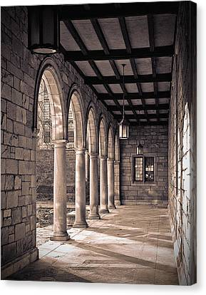 Canvas Print featuring the photograph Law Quad Arches by James Howe