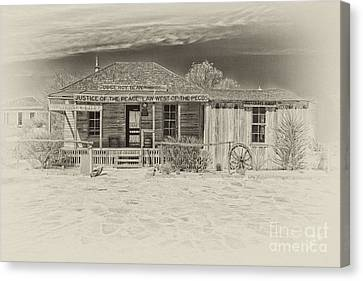 Judge Roy Bean Canvas Print - Law West Of Pecos by Erika Weber