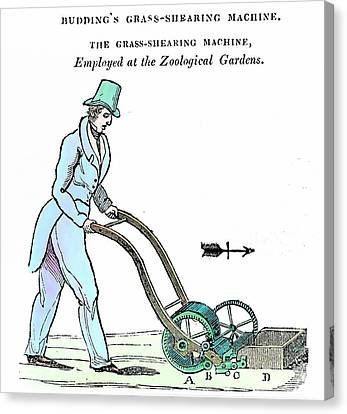Lawn Mower Canvas Print by Universal History Archive/uig