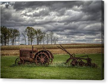 Lawn Tractor Canvas Print by Ray Congrove
