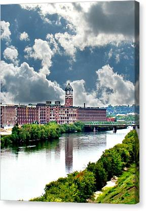 Lawrence Ma Historic Clock Tower Canvas Print by Barbara S Nickerson