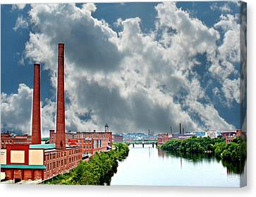 Lawrence Ma Skyline Canvas Print by Barbara S Nickerson