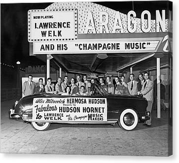 Lawrence Welk In His Hudson Canvas Print