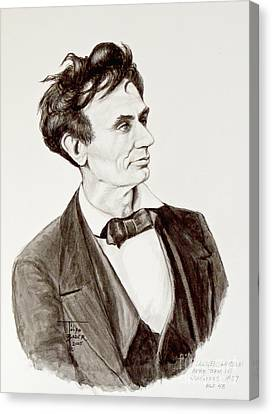 Douglas Bader Canvas Print - Lawyer Abe Lincoln  by Art By - Ti   Tolpo Bader