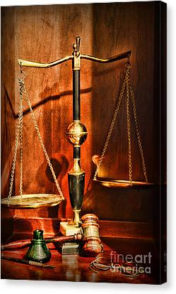 Lawyer - Scales Of Justice Canvas Print by Paul Ward