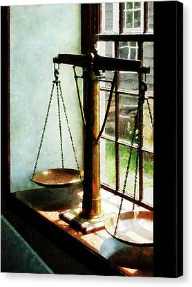 Lawyer - Scales Of Justice Canvas Print by Susan Savad