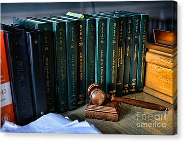 Lawyer - The Code Of Criminal Justice Canvas Print by Paul Ward