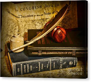 Gift For Canvas Print - Lawyer - The Constitutional Lawyer by Paul Ward