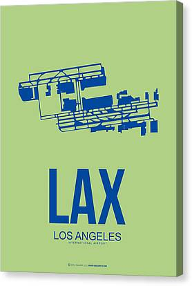 Metropolitan Canvas Print - Lax Airport Poster 1 by Naxart Studio
