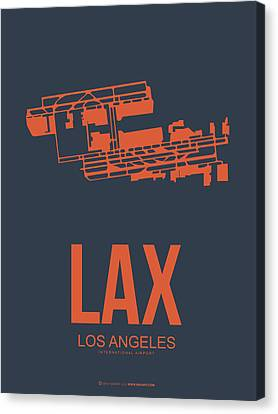 Metropolitan Canvas Print - Lax Airport Poster 3 by Naxart Studio