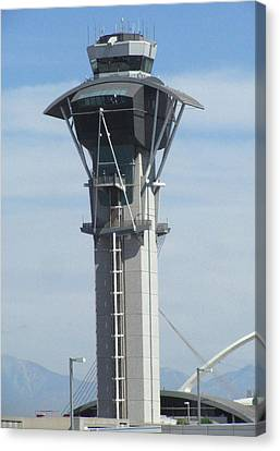 Lax Control Tower Canvas Print by Russell Einhorn