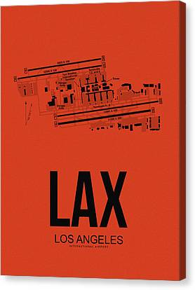 Lax Los Angeles Airport Poster 4 Canvas Print by Naxart Studio