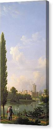 Laxenburg Castle, Near Vienna, 1810 Oil On Canvas Canvas Print