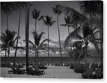 Caribbean Sea Canvas Print - Lay Back And Relax by Laurie Search