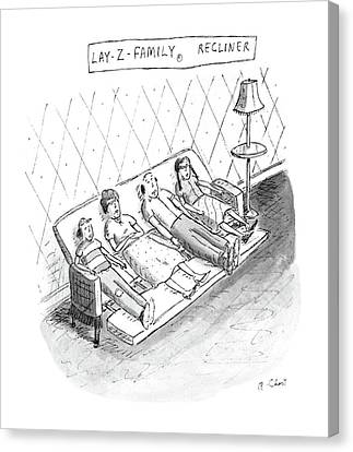 Lay-z-family Recliner Canvas Print by Roz Chast
