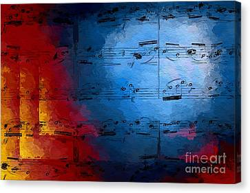 Canvas Print featuring the digital art Layered Hot And Cold by Lon Chaffin