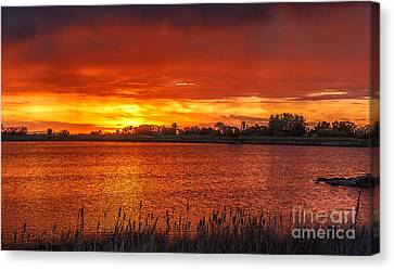Layered Sunset Canvas Print by Robert Bales