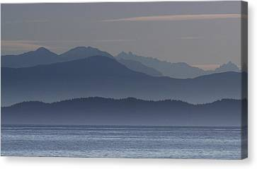 Layers Of Blue Canvas Print by Randy Hall
