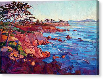 Landscape Oil Canvas Print - Layers Of Monterey by Erin Hanson
