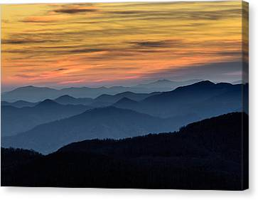 Layers Of The Blue Ridge Mountains Canvas Print