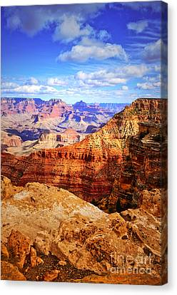 Layers Of The Canyon Canvas Print by Tara Turner