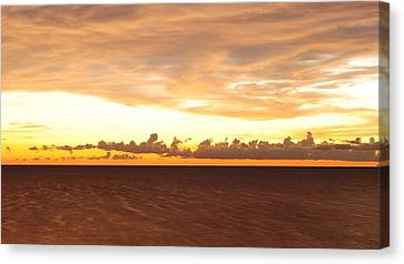 Canvas Print featuring the photograph Layers by Paul Noble