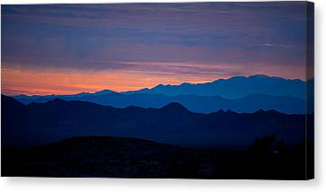 National Preserves Canvas Print - Layers - The Mojave IIi by Peter Tellone